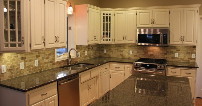 Countertops without backsplash