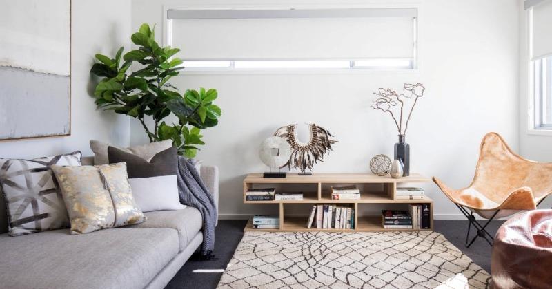Cozy minimalist fall design