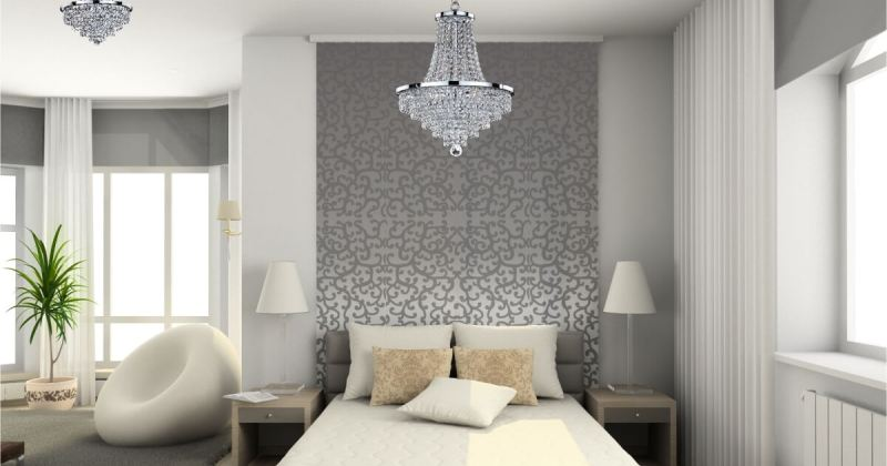 Crystal chandelier bedroom lighting
