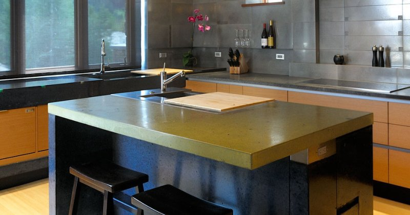 Diy concrete kitchen countertop