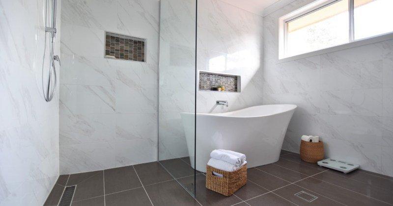 Easy clean bathroom designs