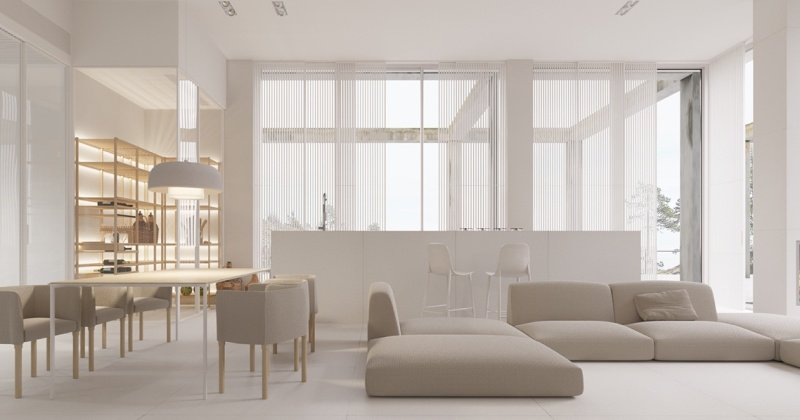 Extreme minimalist apartment