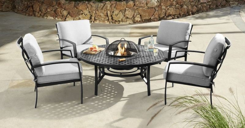 Fire pit table and chairs set uk
