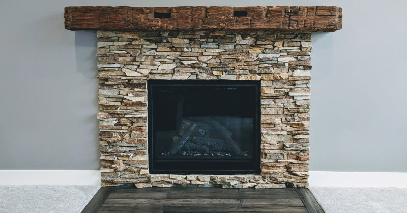 Fireplaces with stone surround