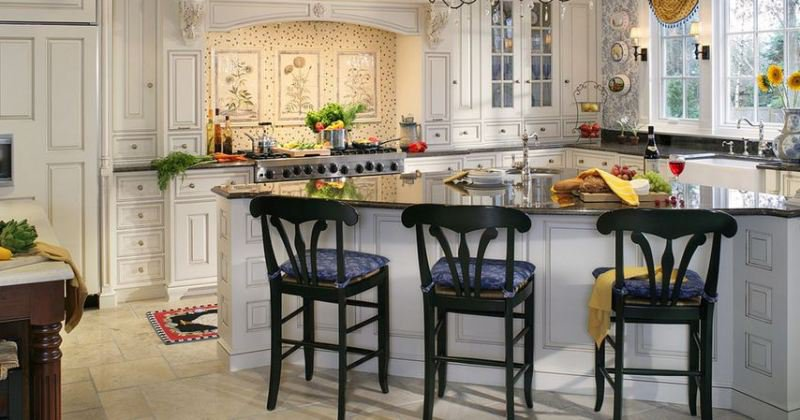 French country kitchen white