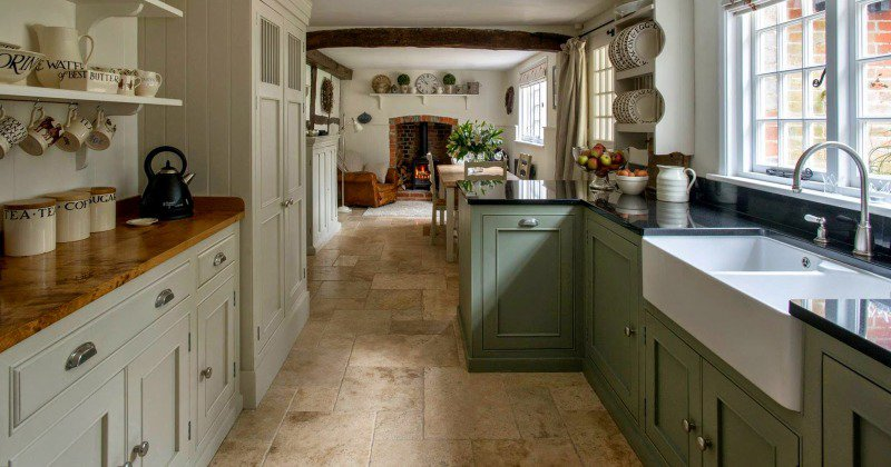 French provincial english country look kitchen