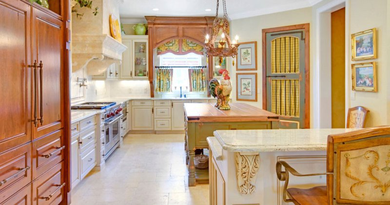 French provincial kitchen curtains