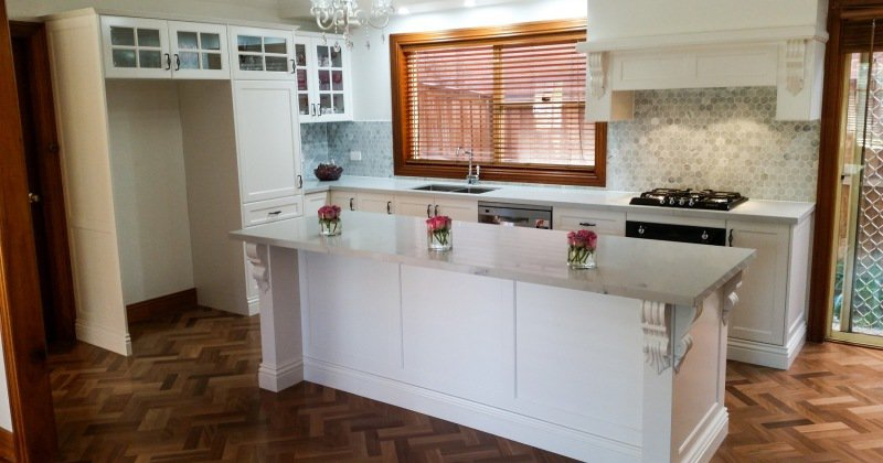 French provincial kitchen island bench