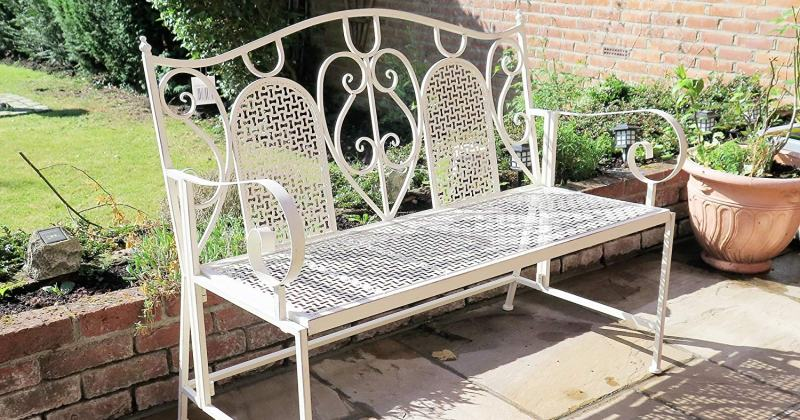 French style garden furniture metal
