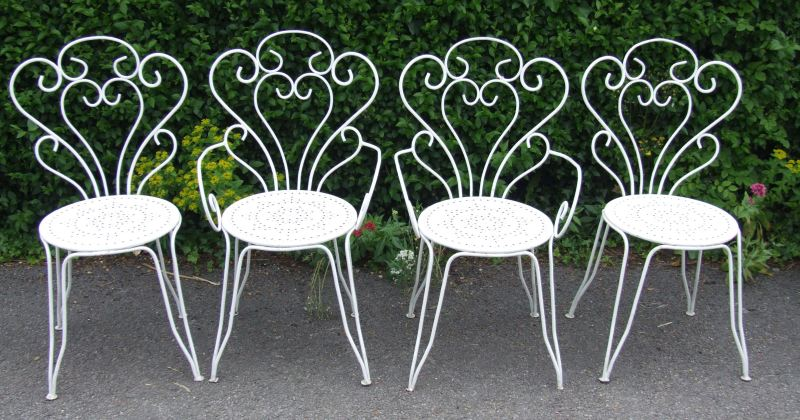 French wrought iron garden furniture