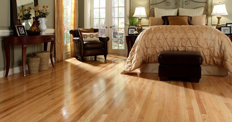 Furniture for red oak floors