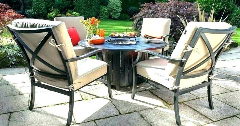 Gas fire pit table and chairs costco