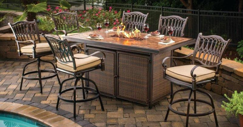 Gas fire pit table and chairs uk