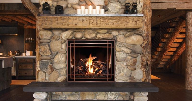 Gas fireplace stone ideas