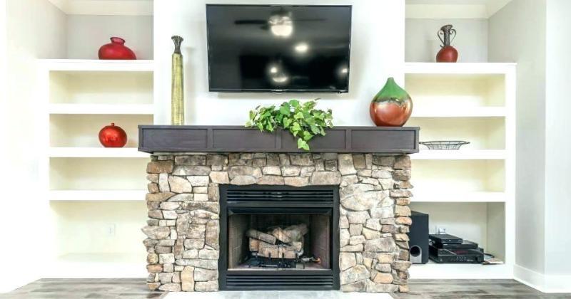 Gas fireplace stone surround ideas