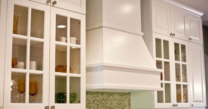 Glass cabinet door design