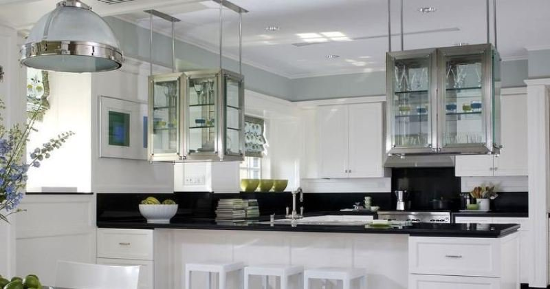 Glass hanging cabinet design