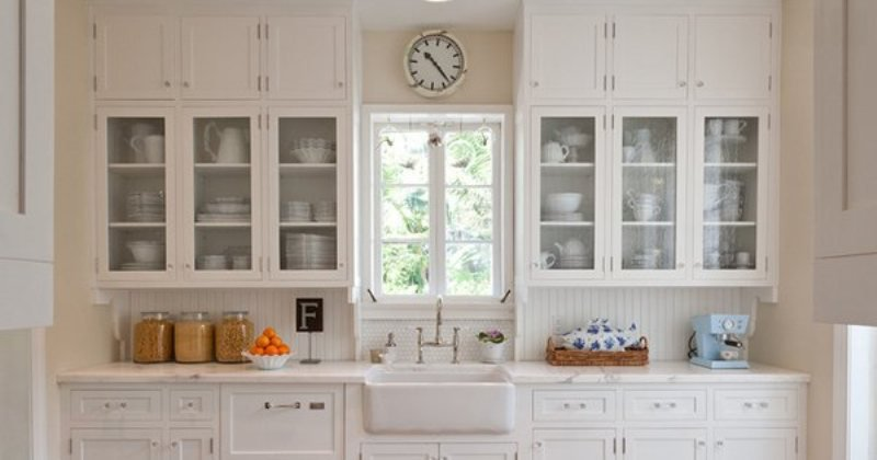 Glass kitchen cabinets design