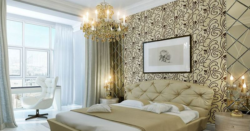 Gold bedroom chandelier