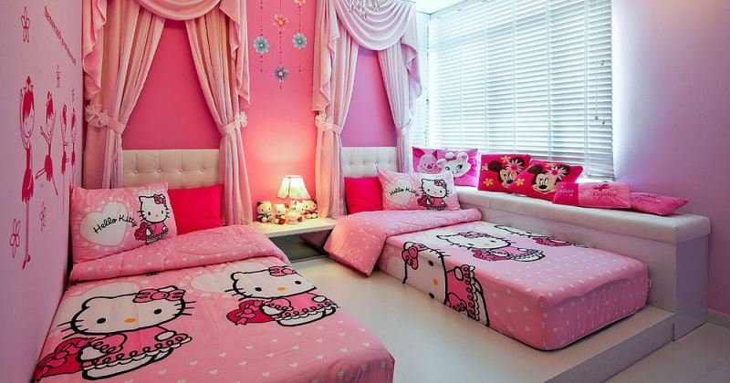 Hello kitty bedrooms design