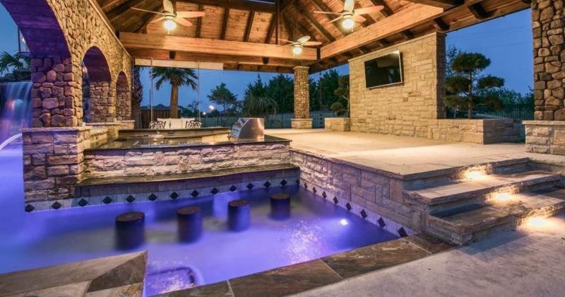 Home pool bar designs