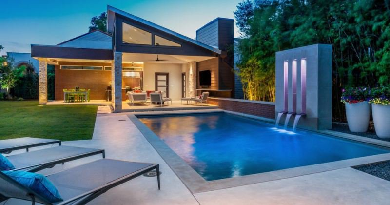House design with swimming pool