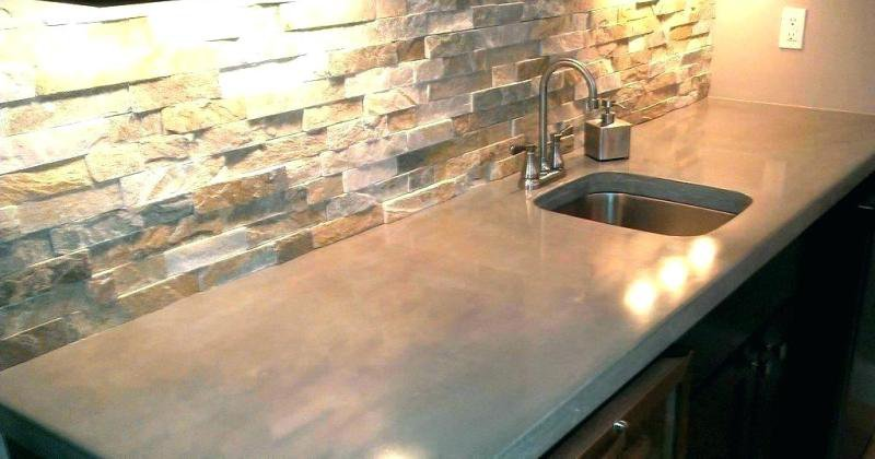 How much do concrete kitchen countertops cost