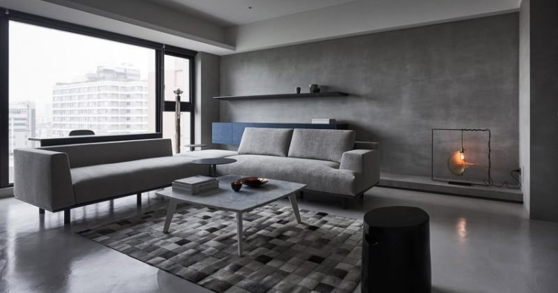 Interior shades of gray design