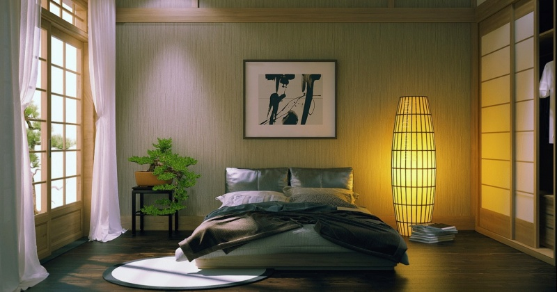 Japanese bedroom decorations