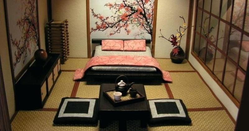 Japanese inspired small bedroom