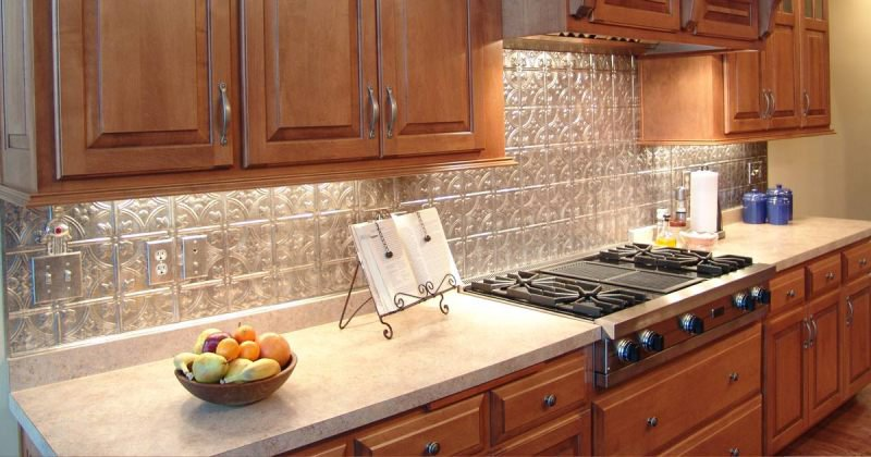 Kitchen backsplash plastic laminate