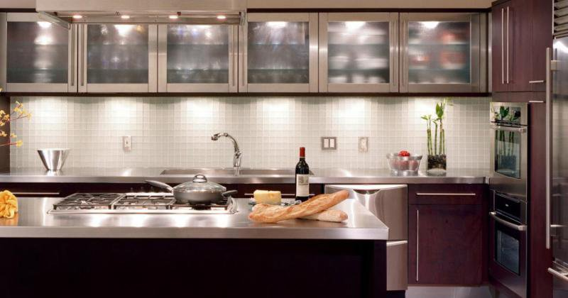 Kitchen glass cabinets designs
