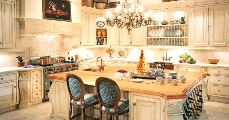 Lighting for french country kitchen