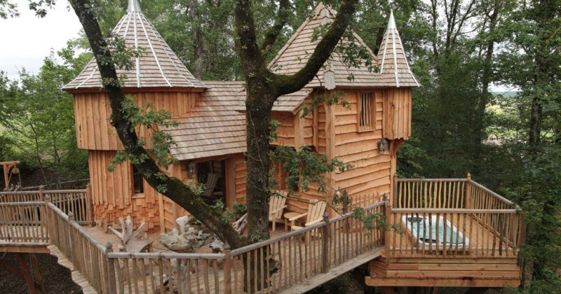 Luxury tree house plans