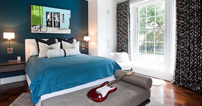 Masculine blue bedroom ideas