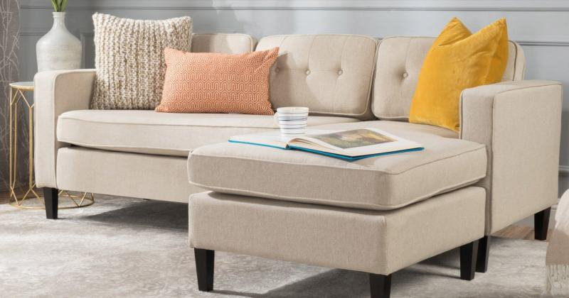Mini sectional sofa with chaise