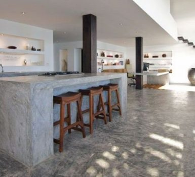 Minimalist Concrete Kitchen Countertop