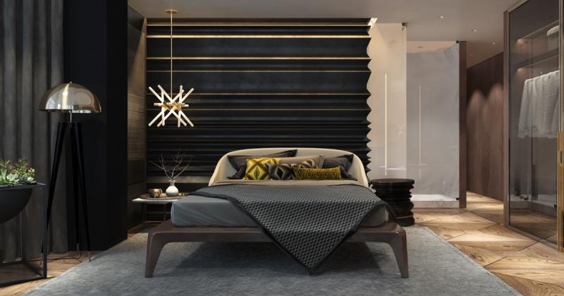 Modern bedroom chandelier lighting