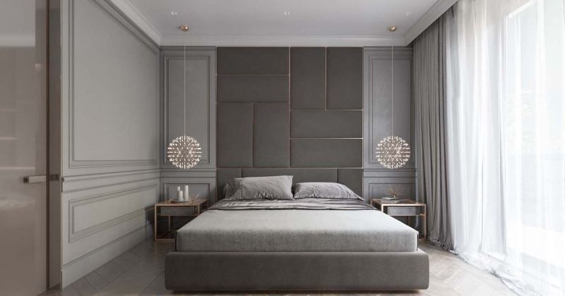 Modern classic master bedroom design