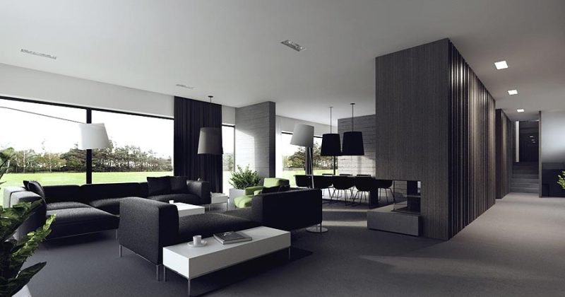 Modern house shades gray