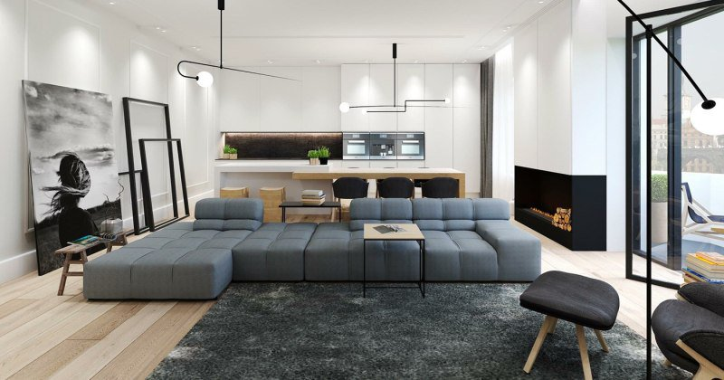 Modern minimalist apartment