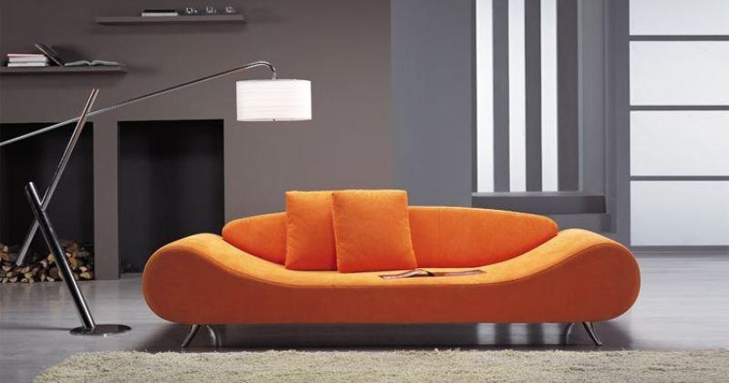 Orange modern sofas