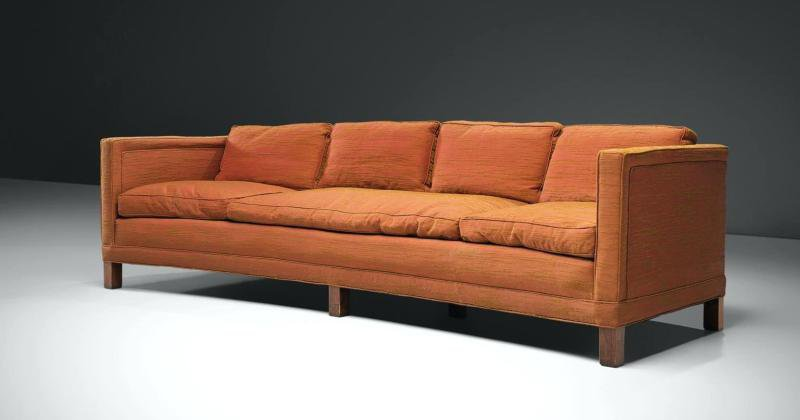 Orange sofa bed ikea