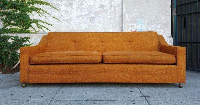 Orange sofa vintage