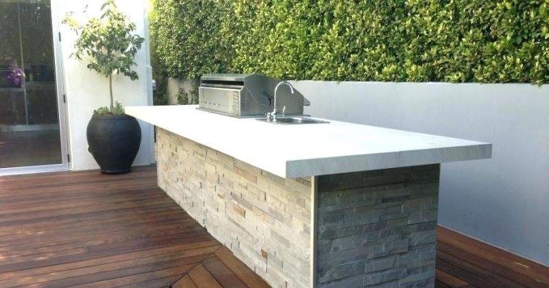 Outdoor kitchen concrete countertops diy