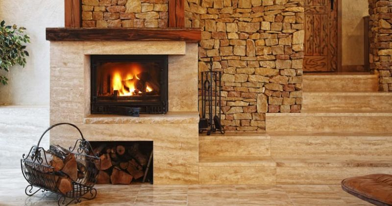 Pictures of gas fireplaces with stone