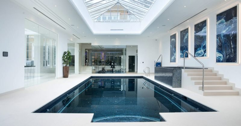 Pool in house design
