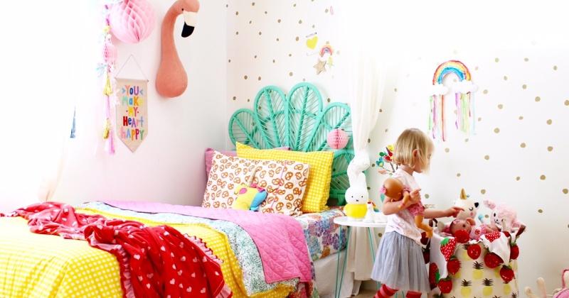 Rainbow bedroom kids decorations