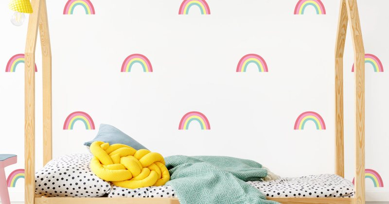 Rainbow childrens bedroom