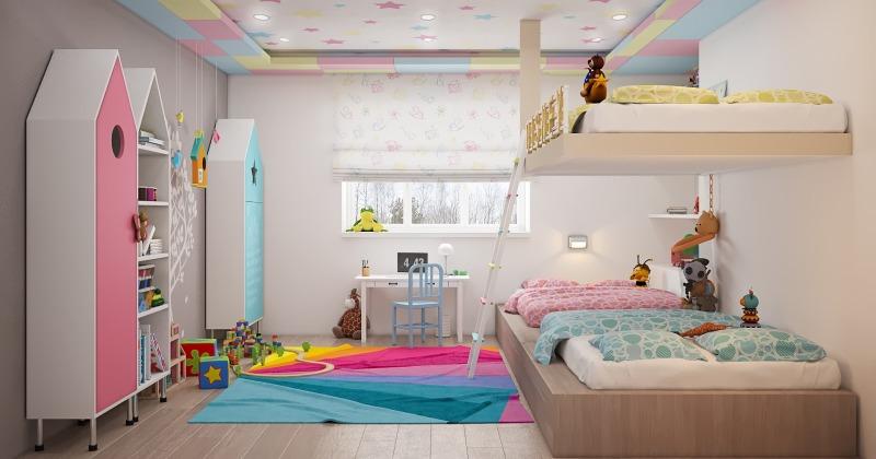 Rainbow kids room decorations